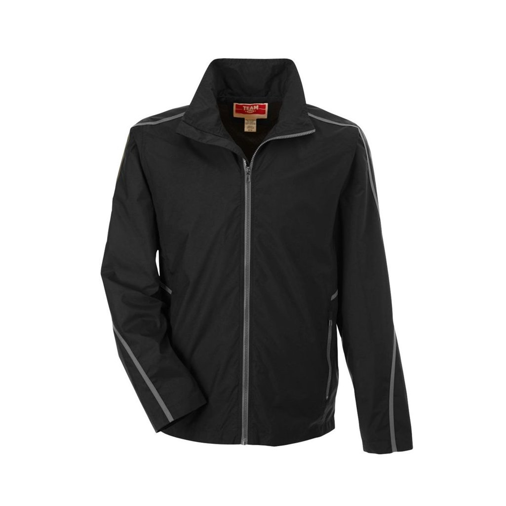 Ash City Apparel Team 365 Conquest Unisex Jacket with Mesh Lining (X-Small, Black)