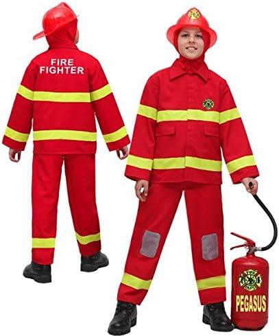 Disfraz Carnaval bombero 10 - 11 anni rojo: Amazon.es: Bebé