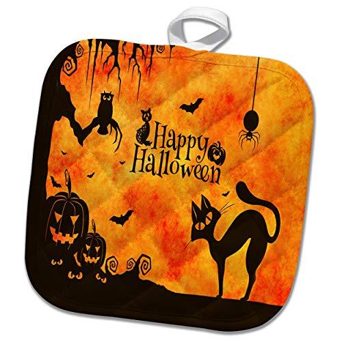 3dRose Sandy Mertens Halloween Designs - Cat, Owl,