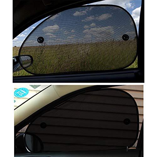 SODIAL 2 Pcs fenetre de Voiture Pare-Soleil ecran Pare-Soleil Protection UV enfantsBouclier Lateral Arriere Noir