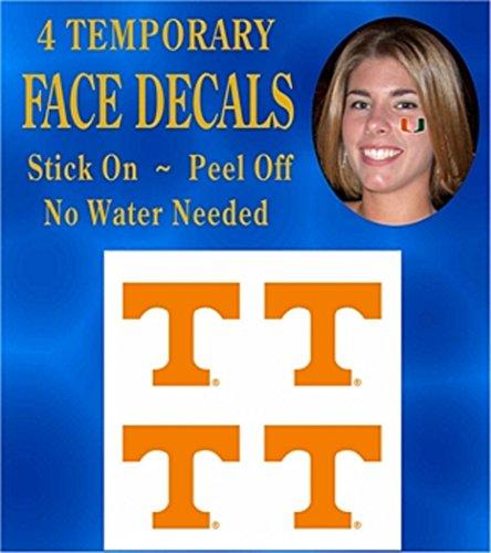 - NCAA Tennessee Volunteers 4-Pack Team Logo Temporary Tattoos