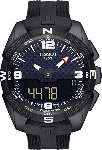 Tissot Men's T-Touch Expert Titanium Swiss-Quartz Watch with Silicone Strap, Black, 20 (Model: ()