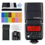 GODOX TT350o 2.4G HSS 1/8000s TTL GN36 Wireless Camera Flash Speedlite for Olympus/ Panasonic Mirrorless Digital Camera and GODOX X1T-O TTL 1/8000s 2.4G Flash Light Trigger Transmitter for Olympus