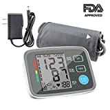 digital blood pressures - Blood Pressure Monitor Automatic Digital Upper Arm BP Monitor Automatically Measure Pulse Diastolic Systolic For Home Use 2 User Mode Fits Most Cuff FDA Approved ( Adapter Include)