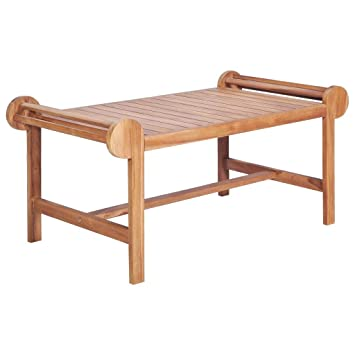 vidaXL Teck Massif Table Basse de Salon Canapé Meuble Jardin ...