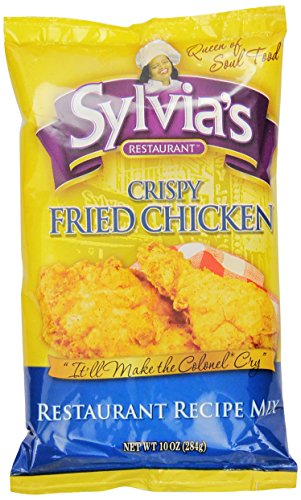 Sylvia's Crispy Fried Chicken Mix, 10-Ounce Packages (Pack of 9) by Sylvia's