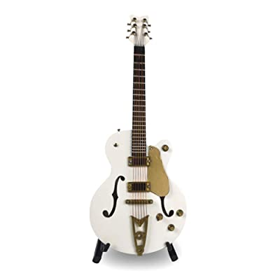 Apolo Electric Bass Guitar, Dollhouse Mini Instrument Model Miniature Art Projects Pocket Electric Guitar Bass Hobby Collectibles Gifts (White): Home & Kitchen