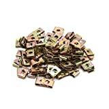 uxcell 100Pcs Bronze Tone Metal Motorcycle Fairing Bolts U-Type Speed Fastener Clips