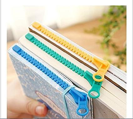 amazon com 3pcs novelty zipper bookmark page marker for book