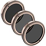 Neewer for DJI Phantom 4,Phantom 3 Professional and Advanced Filter Set Includes Multi-coated ND4/PL Filter,ND8/PL Filter,ND16/PL Filter with Filter Carrying Pouch,Not for DJI Phantom 3 Standard(Gold)