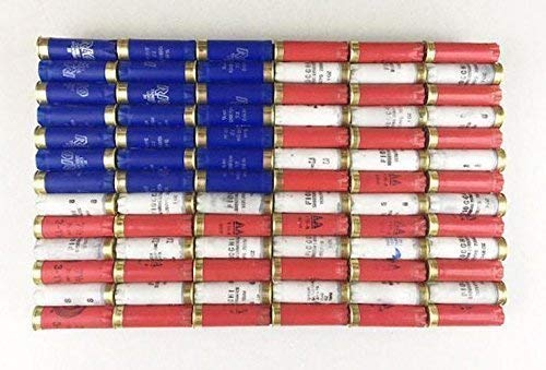 (Shotgun Shell American Flag Patriotic Wall Decor)