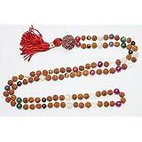 Buddhist Chakra Prayer Beads Necklace Japamala Rudraksha Meditation Malas Healing Jewelry