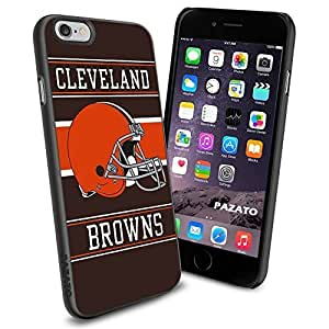 NFL CLEVELAND BROWNS Cool iphone 6 Case Collector iPhone TPU Rubber Case Black