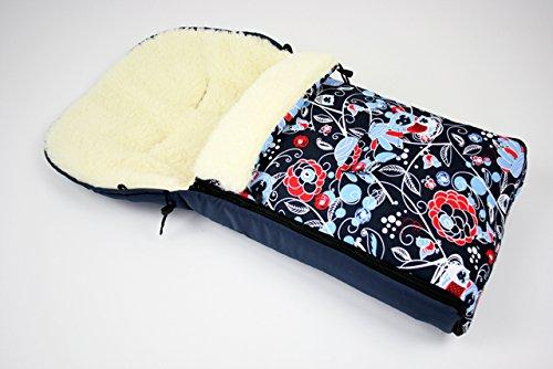 Bambiniwelt Kombi Angebot Muff Handwärmer Universaler Winterfußsack 108cm Auch Geeignet Für Babyschale Kinderwagen Buggy Aus Wolle Im Eulendesign Motiv 9 Baby
