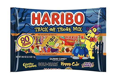 Haribo Halloween Limited Edition Trick or Treat Mix Pack 80 Pieces 2.3lb (1 Pack)
