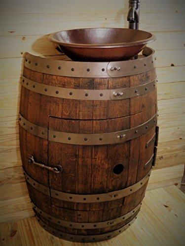 Amazon Com French Oak Wine Barrel Bathroom Vanity Table With 2 Faucet Sink Options Handmade