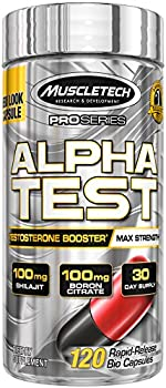 MuscleTech Pro Series AlphaTest Testosterone Booster for Men