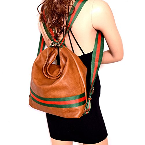 Multi Hobo Wallet New Republic Stripe Handbag Versatile Brown Backpack OFEXEwq