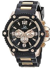 Joshua & Sons Men's JS94RG Analog Display Swiss Quartz Black Watch