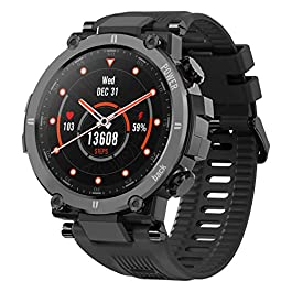 KOSPET Raptor Smart Watch for Men, 1.3″ Outdoor Smartwatch with 20 Sports Modes, Ultra Light Fitness Tracker with Rugged Body, 30 Days Standby, IP68 Waterproof, Compatible with iOS Android, Black