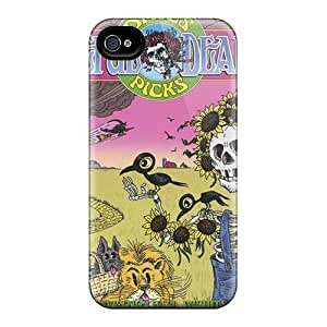 KerryParsons Iphone 4/4s Shock Absorbent Cell-phone Hard Cover Customized Realistic Grateful Dead Pattern [hRl19536fZvz]