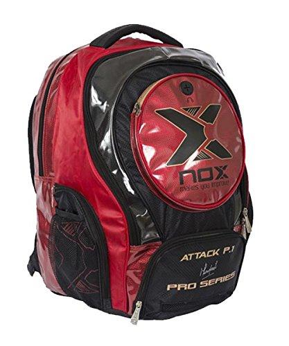 NOX Attack Pro P.1 - Mochila, Color Rojo, Talla única JJ Ballve Sports MOCHMLATTP1