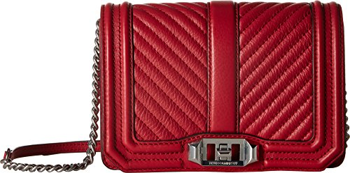Body Minkoff Cross Love Small Quilted Chevron Scarlet Bag Rebecca AYwqFSw