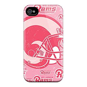 Shock Absorbent Cell-phone Hard Cover For Iphone 6 With Unique Design Trendy St. Louis Rams Pattern IanJoeyPatricia