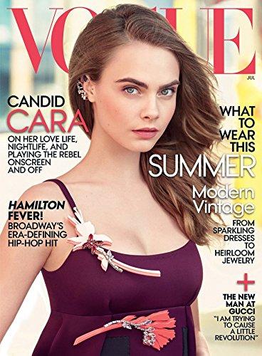 Vogue Magazine (July, 2015) Cara Delevingne Cover / Single Issue Magazine
