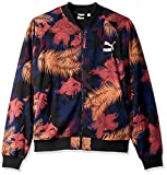 PUMA Men's Summer Tropical Varsity Jacket, Black/All Over Print, M