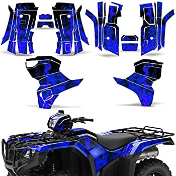Blue Flames Wholesale Decals ATV Graphics kit Sticker Decal Compatible with Yamaha Rancher AT 2007-2013