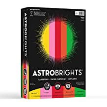 """Neenah Paper Astrobrights Cardstock, 8.5"""" x 11"""", 65 lb / 176 gsm, """"Vintage"""" 5-Color Assortment, 250 Sheets, Multi-Colored (21003)"""