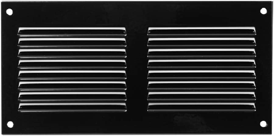 7x3 in. Black Steel Vent Cover - Air Return Grille - Sidewall and Ceiling - with Insects Screen