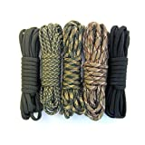 PARACORD PLANET - 550 Paracord - Five Colors 100 Feet Total