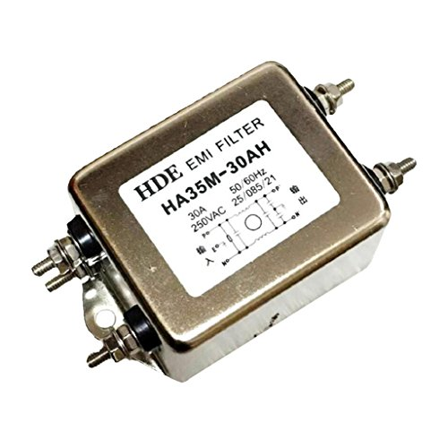 MonkeyJack AC 250V 30A HA35M-30AH EMI Filter Emi Rfi Filter Power Line Filter Metal, Plastic Materials