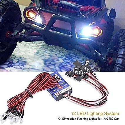 3CH Gelb LED Polizei Lichter Blitzlicht Beleuchtung für 1//8 Rc Rock Crawlers