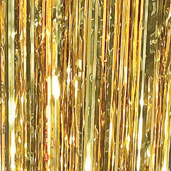 Beautiful Gold Foil Curtain Decoration By Shindigz