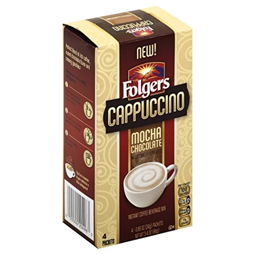 Folgers Cappuccino Single Serve Mix Packets, Mocha Chocolate, 32 Count