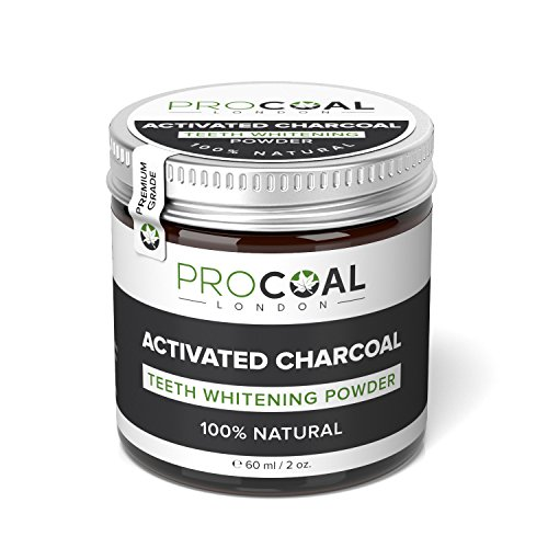 Large Product Image of Natural Activated Charcoal Teeth Whitening Powder by PROCOAL - Teeth Whitener Made With Natural Coconut Charcoal - 100% Vegan - Works Better Than Charcoal Toothpaste - 60g