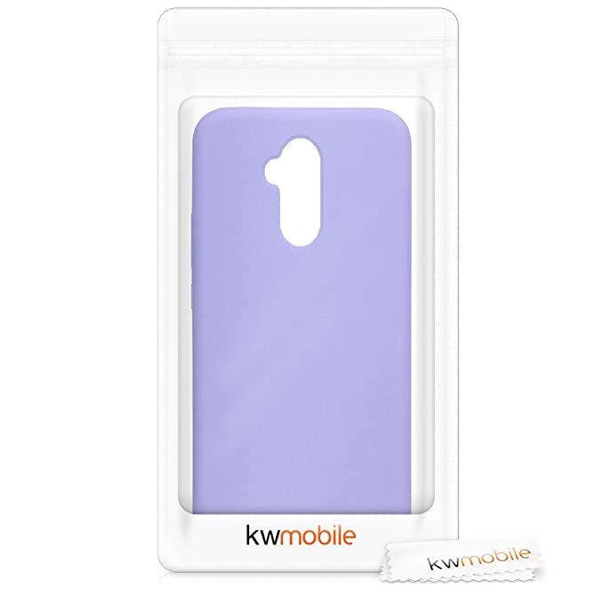 kwmobile TPU Silicone Case for Huawei Mate 20 Lite - Soft Flexible Rubber Protective Cover - Lavender
