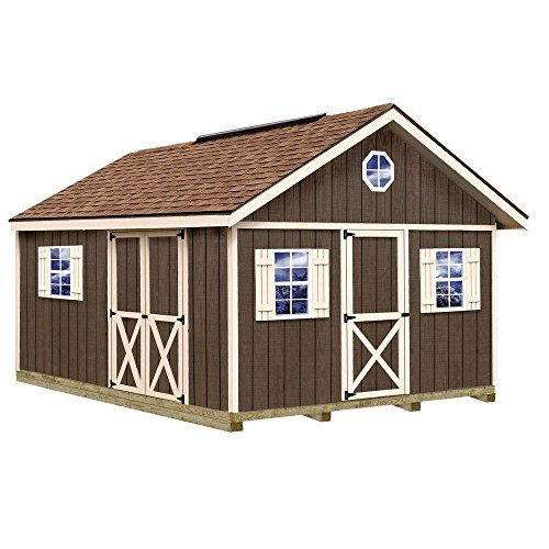 Fairview 12 ft. x 16 ft. Wood Storage Shed Kit with Floor Including 4 x 4 - Shopping Fairview