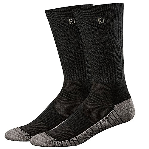 FootJoy Black ProDry TechSof Tour Crew Sock