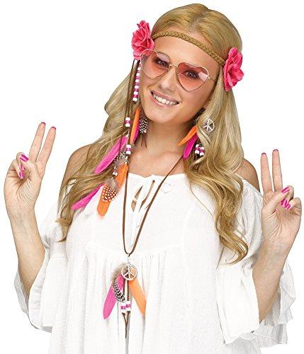 Fun World Women's Groovy 60s Love Child Costume Kit, Multi, Standard (Love Costume Hippie)
