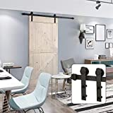 """U-MAX 6 Ft Sliding Barn Door Hardware Kit -Heavy Duty Sturdy, Smoothly and Quietly -Easy to Install - Fit 36""""-40"""" Wide Door Panel (I Shape Hanger)"""