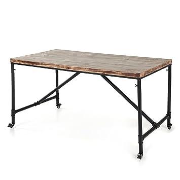 ikayaa mesa de madera de pino natural xxcm para uso de comedor cocina