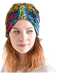 e6c5f5c350f Hippie Turban Headwraps for Women - Boho Headbands for Winter Pre Wrap Knot  Hair Band Head