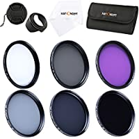 67mm Lens Filter Kit, K&F Concept Slim UV Filter + Polarizing Filter + Neutral Density Filter Set (ND2 ND4 ND8) + Slim FLD Lens Filter Set for Canon Nikon Digital Camera