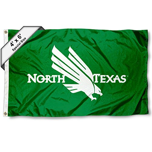 UNT Mean Green 4x6 Flag College Flags and Banners Co