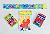 Sesame Street Classroom Decor PLUS Educational Cards For Early Learners. Set Includes Wall Border + Die-cut Shapes with (2) packs of 36 Themed Flash Cards - Numbers and Colors (w/Shapes + Opposites)