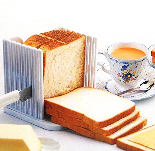 SuperStores Bread Loaf Toast Sandwich Slicer Cutter Mold Maker Kitchen Guide Slicing Tools